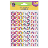 Teacher Created Resources, Oh Happy Day Mini Rainbow Stickers, 1/2 Inch, 378 Stickers