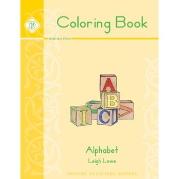 Memoria Press, Alphabet Coloring Book, by Leigh Lowe, Paperback, 55 Pages, Grades PreK-K