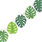 Creative Teaching Press, Palm Paradise Monstera Leaves Border, Die-Cut Trimmer, Green and White, 35 Feet