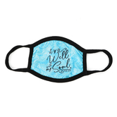 Kerusso, Psalm 62:5 It Is Well Face Mask, Teal, 11 x 5 inches, One Size Fits Most, 1 Mask