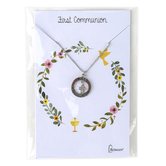Roman, Inc, First Communion Necklace with Cross Pendant, 15 inch Chain