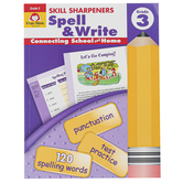 Evan-Moor, Skill Sharpeners Spell & Write Activity Book, Paperback, 144 Pages, Grade 3