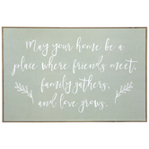 Family Gathers Wood Wall Decor, MDF, 23 5/8 x 35 5/8 x 1 1/8 Inches