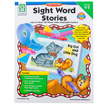 Carson-Dellosa, Sight Word Stories Resource Book, Reproducible Paperback, 64 Pages, Grades K-2