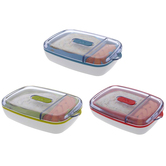 Joie, Reusable Sandwich & Snack Container, 5 1/2 x 8 x 2 inches