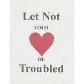 McBeth, Let Not Your Heart Be Troubled Mini Scripture Book, Paperback