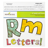 Renewing Minds, Colorful Vintage Bulletin Board Letters, Upper and Lowercase, 4 Inches, Patterned, 220 Pieces