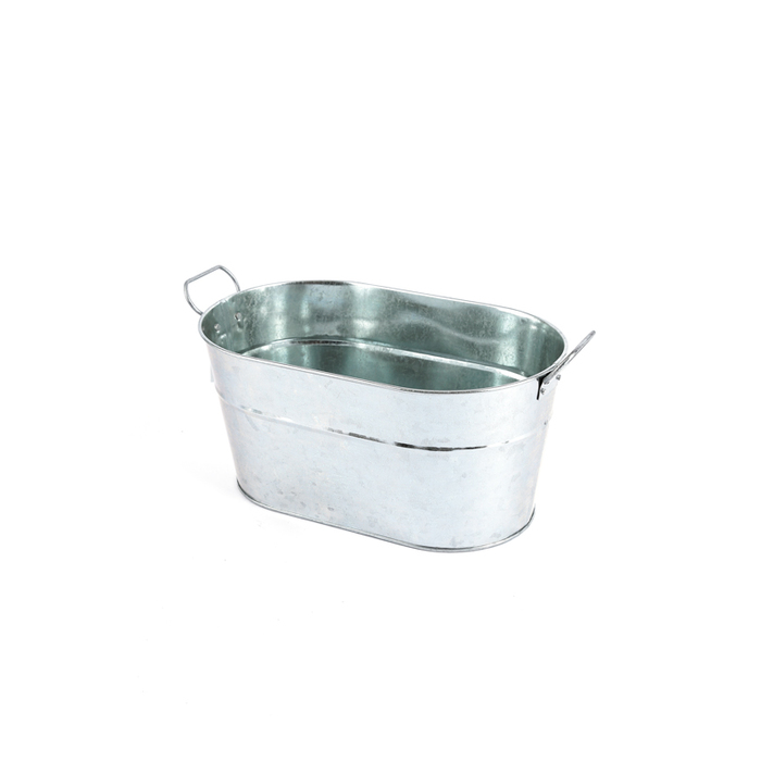 Bright Ideas Oval Metal Bucket With Handles Silver 12 X 7 X 5 1 2 Inches Mardel 3582145