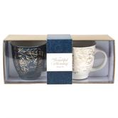 Christian Art Gifts, A Beautiful Morning Ceramic Mugs Boxed Gift Set, 2-Piece, Gold Foil, 14 Oz