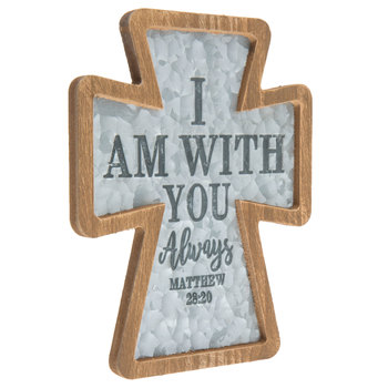 Matthew 28:20, I Am With You Wall Cross, 8 1/2 x 6 1/2 x 1/2 inches
