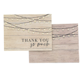 Brother Sister Design Studio, Wood & Lights Thank You Cards, 15 Cards with Envelopes