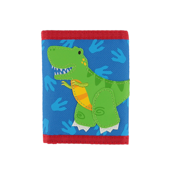 Stephen Joseph, Dino Tri-Fold Wallet, Ages 3 to 6 Years Old, 7 x 4 1/2 inches
