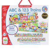 The Learning Journey, Giant ABC & 123 Train Floor Puzzles, 2 Puzzles, 30 Pieces Each, 5 Feet Each