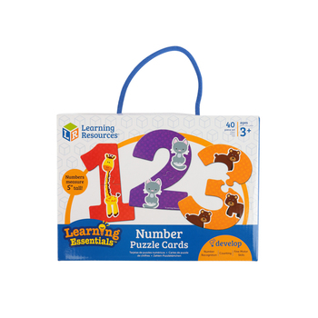 Learning Resources, Number Puzzle Cards, Ages 3 Years and Older, 5 Inches, 40 Pieces