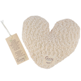 Demdaco, The Giving Heart Plush Pillow, Cream, 11 x 2 x 10 inches