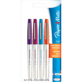 Paper Mate, Flair Felt Tip Pens, Medium Point, Assorted Colors, Pack of 4