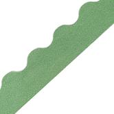 Teacher Created Resources, Green Glitz Scalloped Border Trim, Die-Cut Trimmer, 35 Feet