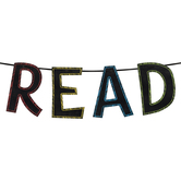 Chalk Talk Collection, READ Word Banner, Multi-Colored, 12 Inch Letters