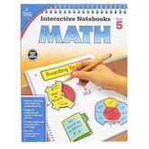 Carson-Dellosa, Interactive Notebooks Math Resource Book, Reproducible Paperback, 96 Pages, Grade 5