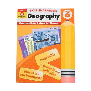 Evan-Moor, Skill Sharpeners Geography 6 Activity Book, Paperback, 144 Pages, Grade 6