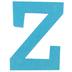 Glitter Foam Alphabet Letter Upper Case - Z, 4 x 5.5 x .50 Inches, 1 Each, Assorted Colors