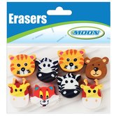 Moon Creative Products, Awesome Animals Toppers, 1 Inch, Assorted, Pack of 8