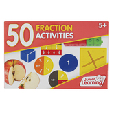 Junior Learning, 50 Fraction Activities, 4 1/2 x 7 inches, 50 Cards