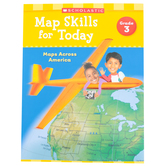 Scholastic, Map Skills for Today Grade 3: Maps Across America Activity Book, Paperback, 48-Pages