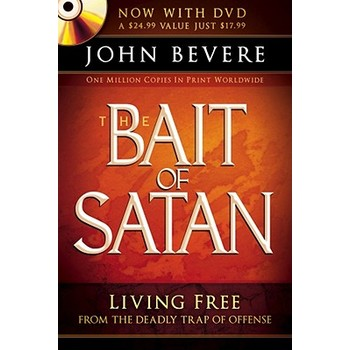 The Bait of Satan: Living Free From the Deadly Trap of Offense, by John Bevere, Paperback with DVD
