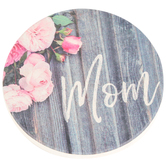 Carson Home Accents, Mom Peony Coasters, Pink, 2 3/4 Inches