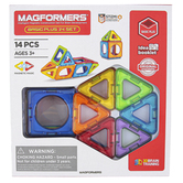 Magformers, Basic Plus Magnetic 3D Building Set, 14 Pieces, Ages 3 and Older