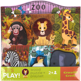 Crocodile Creek, Lets Play At The Zoo Puzzle, Wood, 10 x 10 inches, 6 Pieces