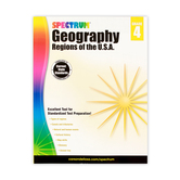 Spectrum, Geography Regions of the USA Workbook, Paperback, 128 Pages, Grade 4