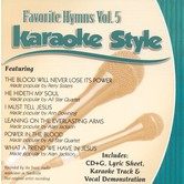 Favorite Hymns Volume 5, Karaoke Style, As Made Popular by Various Artists, CD+G