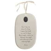 Demdaco, Tender Blessings, Now I Lay Me Down To Sleep Wall Plaque, Ceramic, Cream, 10 x 6 inches