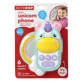 Skip Hop, Zoo Unicorn Phone, 4 1/4 x 1 3/4 x 5 1/4 inches, Ages 6 Months and Older