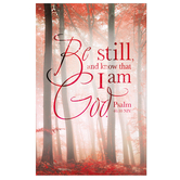 Salt & Light, Be Still And Know Church Bulletins, 8 1/2 x 11 inches Flat, 100 Count