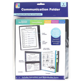 Carson-Dellosa, Communication Folder, Special Needs, Grades PreK-8, 1 Each