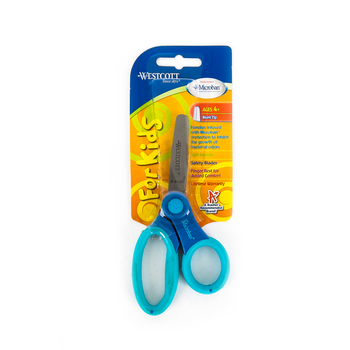 Westcott, Kids Scissors with Soft Handle and Blunt Tip, 5 inches, Ages 4 and up
