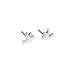 Modern Grace, Romans 15:13 Dove Post Earrings, Silver