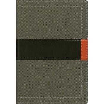 NIV Student Bible, Compact, Duo-Tone, Concrete and Fatigue Green