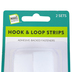 Make A Note, Hook & Loop Industrial Strength Adhesive Strips, White, 3/4 x 18 Inches, Set of 2