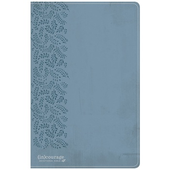 CSB (in)courage Devotional Bible, Imitation Leather, Blue