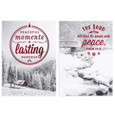 DaySpring, Peaceful Moments Christmas Boxed Cards, 12 Each of 2 Designs