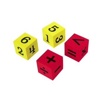Teacher Created Resources, Foam Numbers and Operations Dice, Kindergarten and Older, 20 Pieces