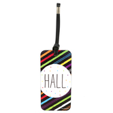 Chalk Talk Collection, Hall Pass, 3 x 6 Inches, Black with Multi-Colored Stripes