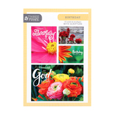 ThreeRoses, Bright Flowers Birthday Cards, 12 count