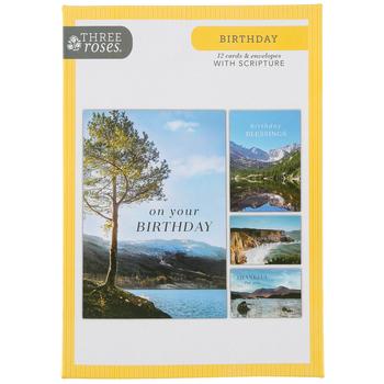 ThreeRoses, Outdoor Adventure Birthday Cards, 12 count