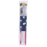American Flag Kit, Polycotton, Red/White/Blue, 3 x 5 foot
