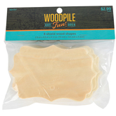 Woodpile Fun, Wood Cut-Out Quatrefoil Shapes, 3 x 4.50 Inches, 8 Count, Ages 4 and up